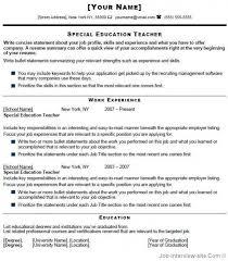 Free Download Special Education Teacher Resume Sample Best Resume
