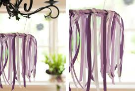 diy ribbon chandelier