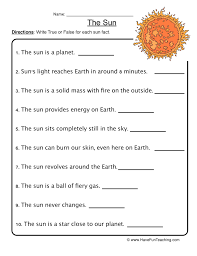 earth and space worksheet | Have Fun Teaching