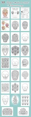 Sugar Skull Coloring Pages Not Free