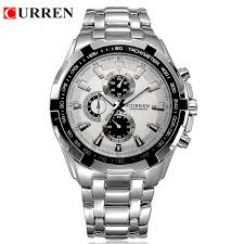 popular watches top brands buy cheap watches top brands lots from curren quartz men watches top brand luxury men military wrist watches full steel men sports watch