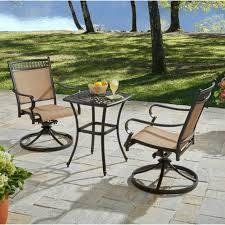 3 piece aluminum bistro set patio outdoor swivel rocker chair furniture dining