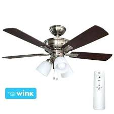 hampton bay ceiling fan remote control led brushed nickel smart ceiling fan with light kit and hampton bay ceiling fan