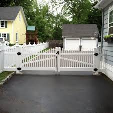 picket fence double gate. Vinyl Fence Double Gate Installation; Driveway Gates For Sale Picket