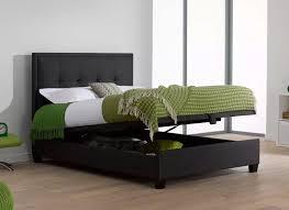 Ottoman For Bedroom Evert Slate Grey Fabric Upholstered Ottoman Bed Frame Dreams