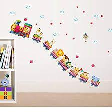 Oren Empower 'Circus <b>Animals Train</b>' <b>Wall Stickers</b> (Multicolor ...