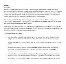 Samples Of A Resume For Job Sample Resume Writing Template For