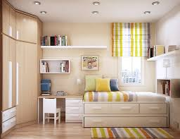 ... Cool Inspiration Compact Beds For Small Rooms Great Designing Interior  Carpet Rainbow Striped Modern Decorating Drawers ...