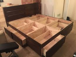 Homemade Wooden Bed Designs Platform Bed With Drawers Bed Frame With Drawers Platform