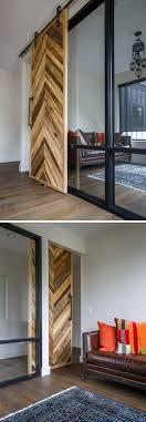 contemporary home office sliding barn. A Sliding Barn Door Made From Recycled Wood Provides Access To The Home Office, While Natural Light Window Flows Through Glass Wall, Allowing Contemporary Office C