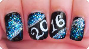 Happy New Year 2016 nail art - YouTube