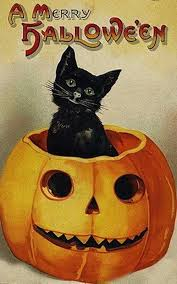 vintage halloween black cat. Perfect Cat These Postcards Prove That Black Cats Need Not Be The Sheep Of  Halloween Throughout Vintage Halloween Black Cat