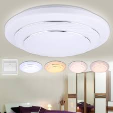 24w round led ceiling light 4 modes flush mount fixture home kitchen room lamp