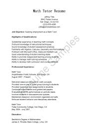 Tutor Resume Sample resume Sample Tutor Resume Simple Job Description Freelance 17