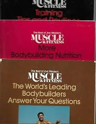 Joe Weider S Bodybuilding System Book And Charts Original 3 Lot Joe Weider Wall Charts System Of Progressive