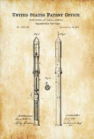 surgical instrument patent 1902 doctor office decor. Hypodermic Syringe Patent \u2013 Decor, Doctor Office Nurse Gift, Medical Art, Print, Surgeon Gift MyPatentPrints Surgical Instrument 1902 Decor T