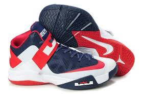 lebron nike basketball shoes. nike zoom lebron soldier 6 (vi) white/navy blue/red basketball shoes