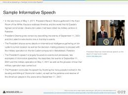 informative speech samples   resume name