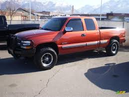 2001 Sunset Orange Metallic Chevrolet Silverado 1500 LT Extended ...