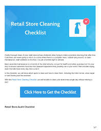 cleaning checklists 6 retail process checklists to keep your store running smoothly