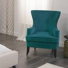 blue wingback chair. Accent Chairs With Arms Brown And Turquoise Chair Tufted Wingback Gold Blue Dark R