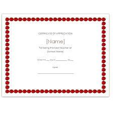 Best Teacher Certificate Templates Free Fresh Teacher Appreciation Certificate Templates Free Showing