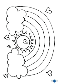 Rainbow Coloring Pictures Free Online Sun Colouring Page Rainbows