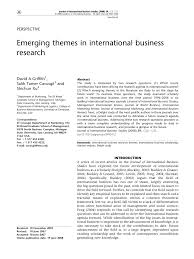 emerging themes in international business research pdf  emerging themes in international business research pdf available