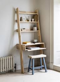 our gorgeous raw oak hambledon shelf ladder has been updated to include a desk with a laptop tray mehr