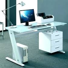 white glass desk computer table unique desks for a stylist office best garden small top with small glass metal desk top