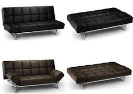 Black faux leather sofa Coaster Image Is Loading Julianbowenmanhattanfauxleathersofabedsettee Ebay Julian Bowen Manhattan Faux Leather Sofa Bed Settee Brown Or Black
