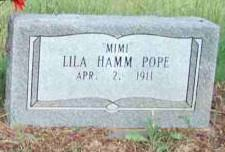 Lila Marie Hamm Pope (1911-2010) - Find A Grave Memorial