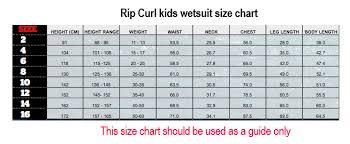 Kid Wetsuit Sizes Kids