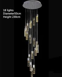 14 35m high ceiling modern led chandeliers crystal stair lighting luminaria hall parlor foyer led strip pendant lights long stairway lamps buy pendant lighting