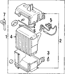 parts com® mitsubishi montero sport heater components oem parts 2003 mitsubishi montero sport ls v6 3 0 liter gas heater components