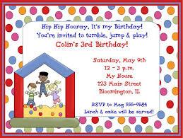Kids Birthday Party Invitation Card Rumble Design