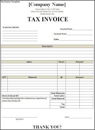Tax Invoice Receipt Template