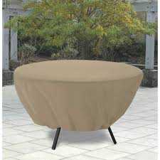 innovative round patio table cover classic accessories terrazzo round patio table cover sand 50in patio remodel photos