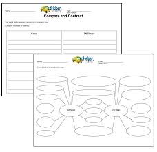 compare and contrast worksheets edhelper first grade compare two things 1 key