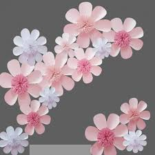 Cardstock Paper Flower Cardstock Giant Paper Flowers Set For Wedding Event Backdrops