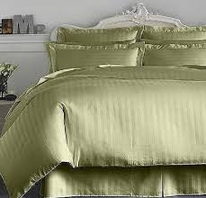 charter club damask stripe 500 thread count king bedskirt palmetto green