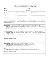 Best Of Work Performance Evaluation Template Staff Review