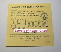 Fender Deluxe Tube Chart Deluxe Reverb Amp Model Ab763 Replacement Tube Chart On