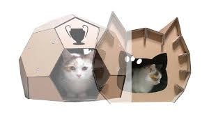 Cardboard House For Cats Creative Cat Houses Made From Cardboard Youtube
