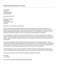 apprenticeship cover letter sample industrial electrician cover letter examples electrician cover