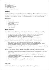 1 Chief Nursing Officer Resume Templates Try Them Now Myperfectresume