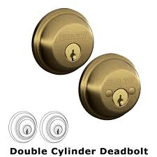 with flair lever interior with b62 double deadbolt in antique brass schlage door hardware mfgpartnumber fe285ply609flalh b62609 brand schlage