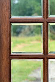 clear beveled glass on exterior doors