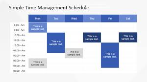 Daily Time Table Simple Time Management Powerpoint Table