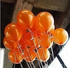 100pcs Orange Metallic Latex Helium Inflatable Thickening Pearl ...